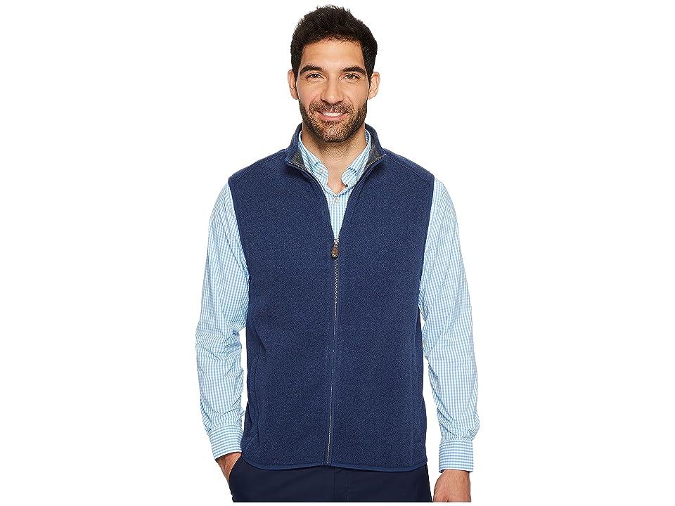 Vineyard Vines Dressy Sweater Fleece Vest (Deep Bay) Men