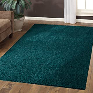 Mainstays 5' x 7' Manchester Shag and Flokati Stain-Resistant Area Rug/Runner - Teal Quartz