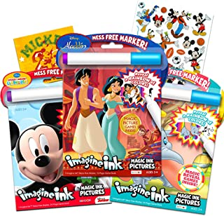 Disney Coloring Book Imagine Ink Super Set ~ 3 No Mess Magic Ink Activity Books Featuring Aladdin, Lion King, and Dumbo wi...