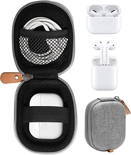 discount WGear Protective Case for Airpods, Handy Semi-hard popular case for airpods for travel, protective discount and orgaize, Shock and shake Proof, mesh pocket for cable and other accessories (Gray) online sale