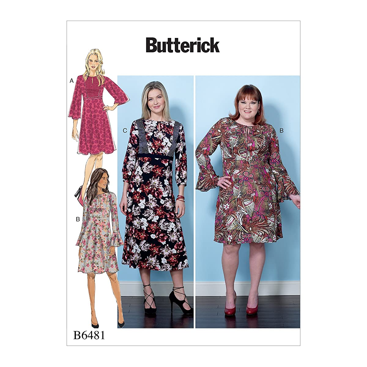 Butterick Patterns B6481B50 Misses'/Women's Dresses with Set-in Waistband, B5 (8-10-12-14-16)