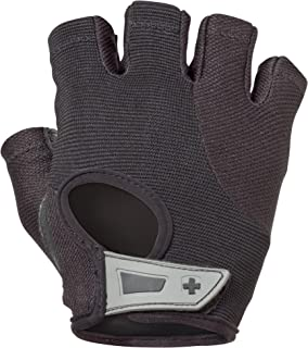 Harbinger Women's Power Weightlifting Gloves with StretchBack Mesh and Leather Palm (Pair) (2017 Model)