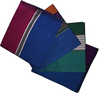 ReenaHANDS Lungi Sarong Mens Handloom Lungi Sarong 100% Cotton. Stitched Tube Sarong. Assorted Color/Design