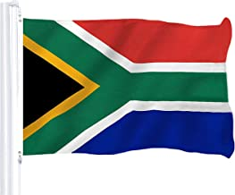 G128 – South Africa (South African) Flag | 3x5 feet | Printed 150D – Indoor/Outdoor, Vibrant Colors, Brass Grommets, Quality Polyester, US USA Flag, Much Thicker More Durable Than 100D 75D Polyester