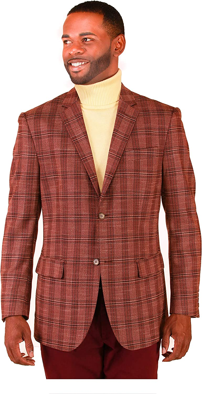 Men's Blazer Plaid Sport Coat Classic FIT and Regular FIT Big Tall