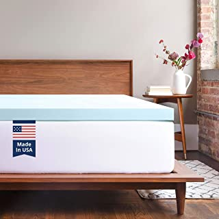 ViscoSoft Memory Foam Mattress Topper Twin | 2 Inch Response Gel Mattress Pad