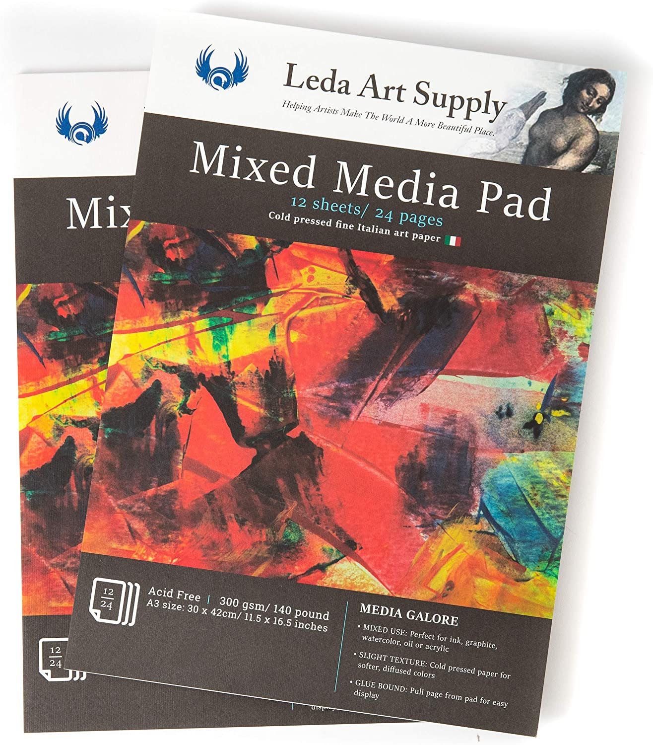 Leda Art Supply Mixed-Media Pad OFFer 2 Total 2021 new Pages fo Pack 48
