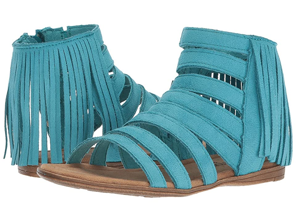 Minnetonka Kids Emery (Toddler/Little Kid/Big Kid) (Turquoise Microsuede) Girl