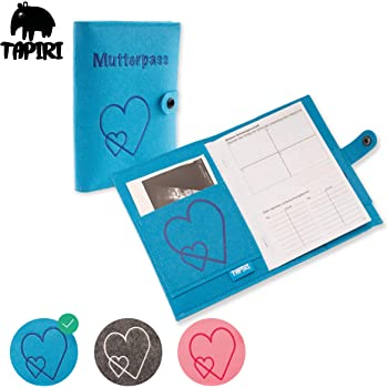 Funda para cartilla de embarazo con cierre para cartilla de embarazo con bolsillo para im/ágenes de ultrasonido//cartilla de vacunaci/ón rosa Rosa.