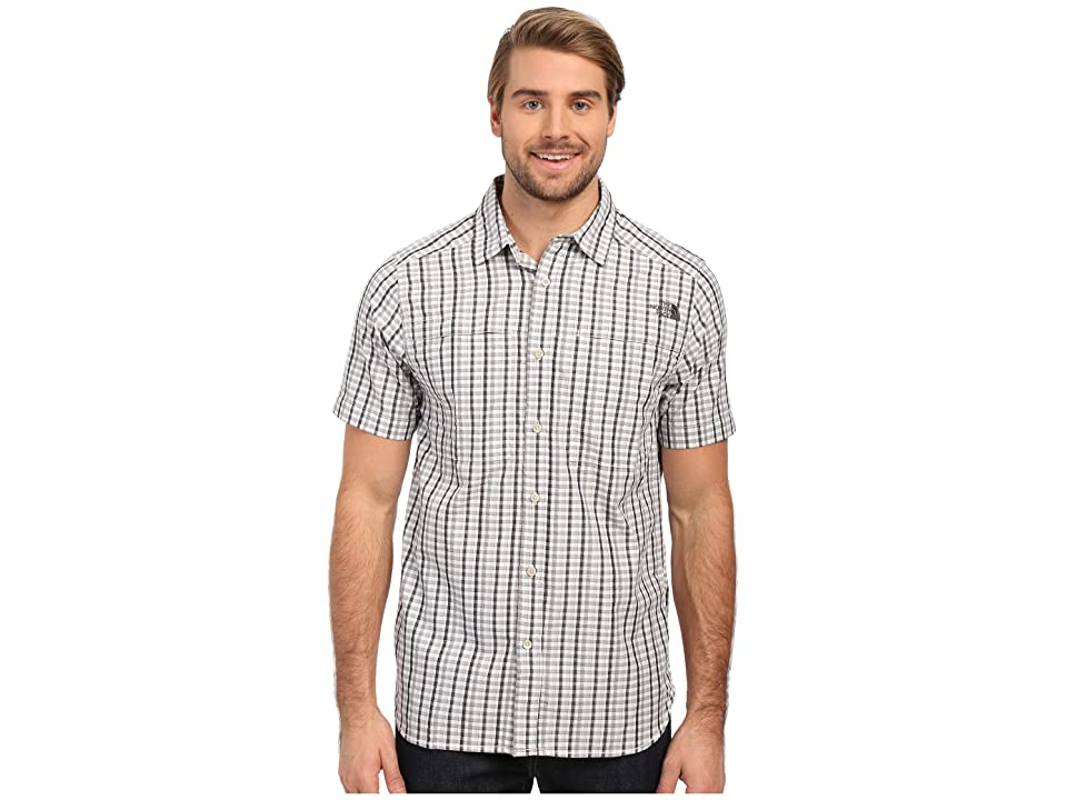 The North Face Short Sleeve Traverse Plaid Shirt (TNF Black/Mid Grey Plaid (Prior Season)) Men
