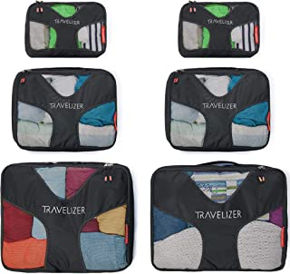 Travelizer - Travel Packing Cubes 6 pcs Luggage Organizer Set for Bag & Suitcase