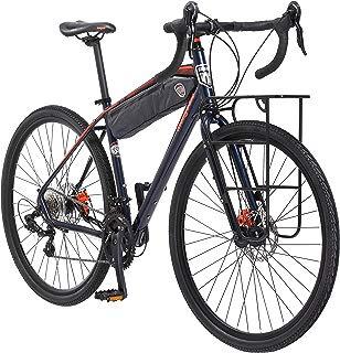 Mongoose Men's Elroy Adventure Bike 700C Wheel Bicycle, Blue, 54cm frame size