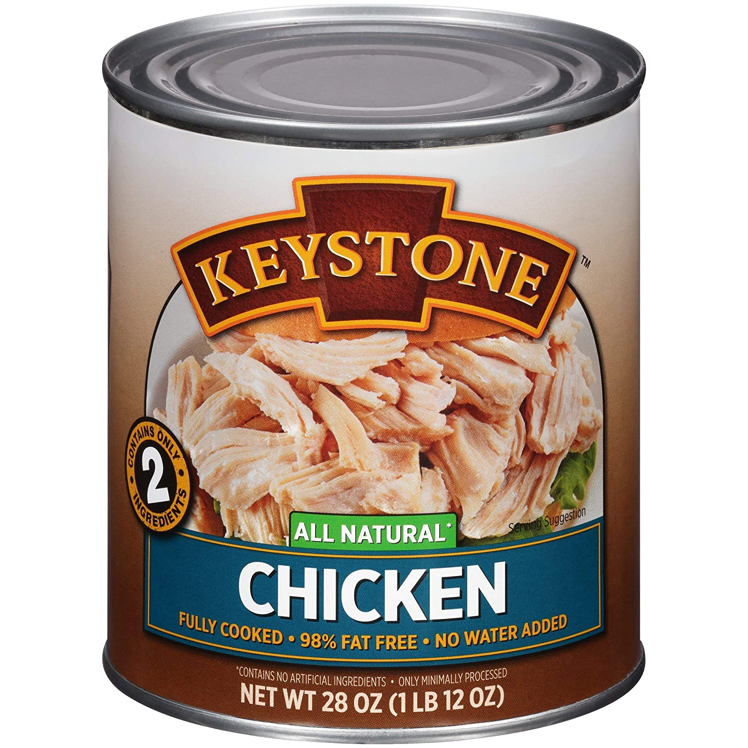 Keystone Meats OFFicial shop All Natural Bargain sale Canned Chicken 28 SET - 10 Ounce OF