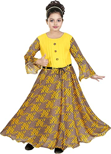 SFC Fashions Cotton Lycra Maxi Gown Dresses for Girls