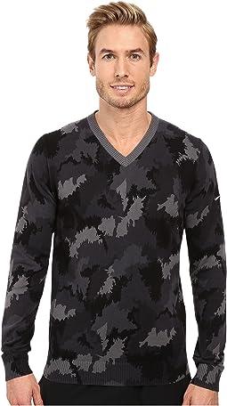 Range Camo V-Neck Sweater
