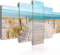 murando - Cuadro 200x100 cm - Mare Costa - impresión de 5 Piezas - Material Tejido no Tejido - impresión artística - Imagen gráfica - Decoracion de Pared - Naturaleza Paisaje c-B-0051-b-n