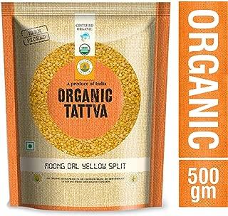 Organic Tattva Yellow Split Lentils Mung Beans (Moong Dal) 500g Certified By USDA