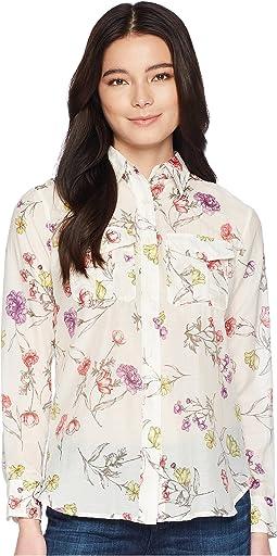 LAUREN Ralph Lauren Petite Floral Cotton-Blend Shirt