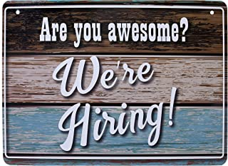 Fun Hiring Sign - We're Hiring Sign - Help Wanted Sign for Business - Stand Out with This Unique and Decorative Lightweight, Washable PVC Hiring Sign for Window (8.25
