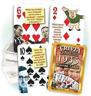 Flickback Media, Inc. 1935 Trivia Playing Cards: Great Birthday