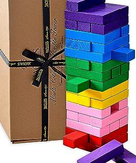 Jaques of London Tumble Tower - Multiusos 3 EN 1 - Juego Familiar / Bloques de construcción / Multicolor Tumble Tower - Calidad Juego de construcción de Jaques - Jugando Bloques Desde 1795