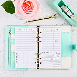 2020 and remainder 2019 Dated Weekly Planner Inserts | Refill Pages for Personal Size Ring Bound Planner Systems | 3.75x6.75 inches | Size 2