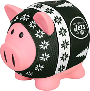 NFL New York Jets Sweater Pig Bank, Green