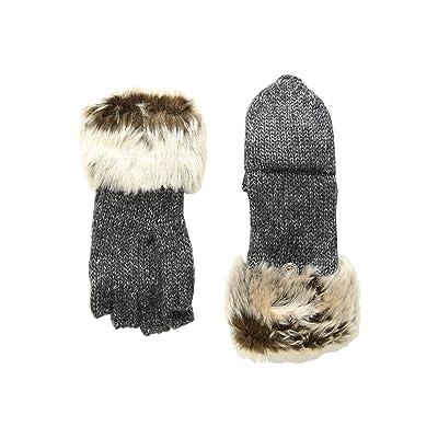 Appaman Kids Timid Convertible Mittens with Faux Fur Trim (Infant/Toddler/Little Kids/Big Kids) (Heather Medium Grey) Snowboard Gloves