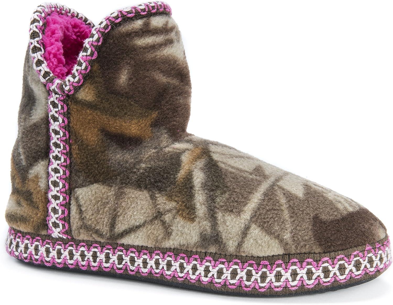 MUK LUKS Womens Women's Wm Fleece Amira-adv. Grey Slipper