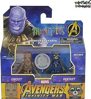 Marvel Minimates Toys R Us Infinity War Movie Teenage Groot & Rocket Raccoon 2-Pack