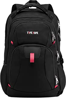 Travel Laptop Backpack, Extra Large College School Backpack for Men and Women with USB Charging Port, TSA Friendly Water Resistant Big Business Computer Backpack Bag Fit 17 Inch Laptop and Notebook