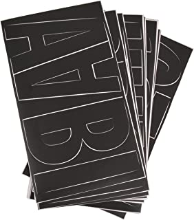 Westcott LetterCraft Removable Vinyl Letters, Number and Symbols, Black, Franklin Gothic Font, 6-Inch (RPF6-CN BLK/15860)