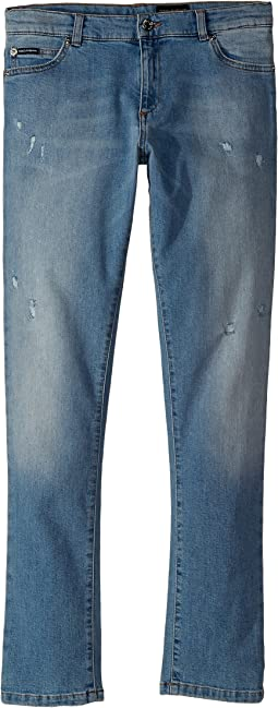 Dolce & Gabbana Kids Five-Pocket Trousers (Big Kids)
