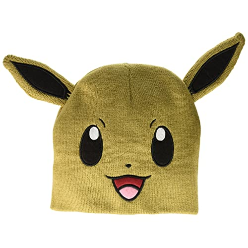 bioWorld Pokemon Eevee Big Face Fleece Cap Beanie with Ears c6d1d4bd44bf