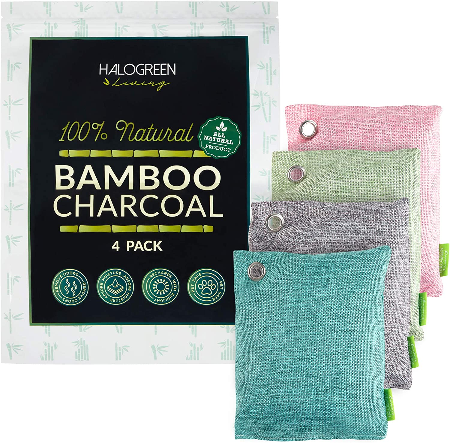 HALOGREEN LIVING trend rank Activated New Shipping Free Bamboo Charcoal - Air Purifying N Bag