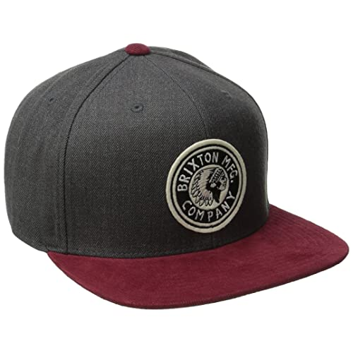 ce3cf74ff94 Brixton Men s Rival Medium Profile Adjustable Snapback Hat
