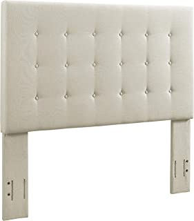 Crosley Furniture CF90005-501CR Reston Square Upholstered Headboard, Full/Queen, Crème Linen