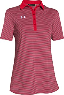 Under Armour Women's Clubhouse Polo Red/Grey Size XS