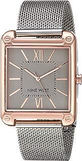 Nine West NW2091RGSB Reloj Análogo para Mujer, color Gris/Plata