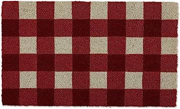 Buffalo Check Doormat, Basic Red & White