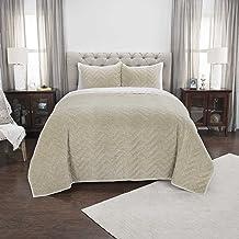"Rizzy Home DOH Collection Riviera Natural Queen Quilt, 90"" x 92"", Indigo"