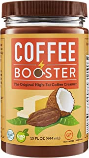 Coffee Booster | The Original High-Fat Coffee Creamer | Organic Keto-Friendly Blend of Grass-fed Ghee and Coconut Oil | 15 oz