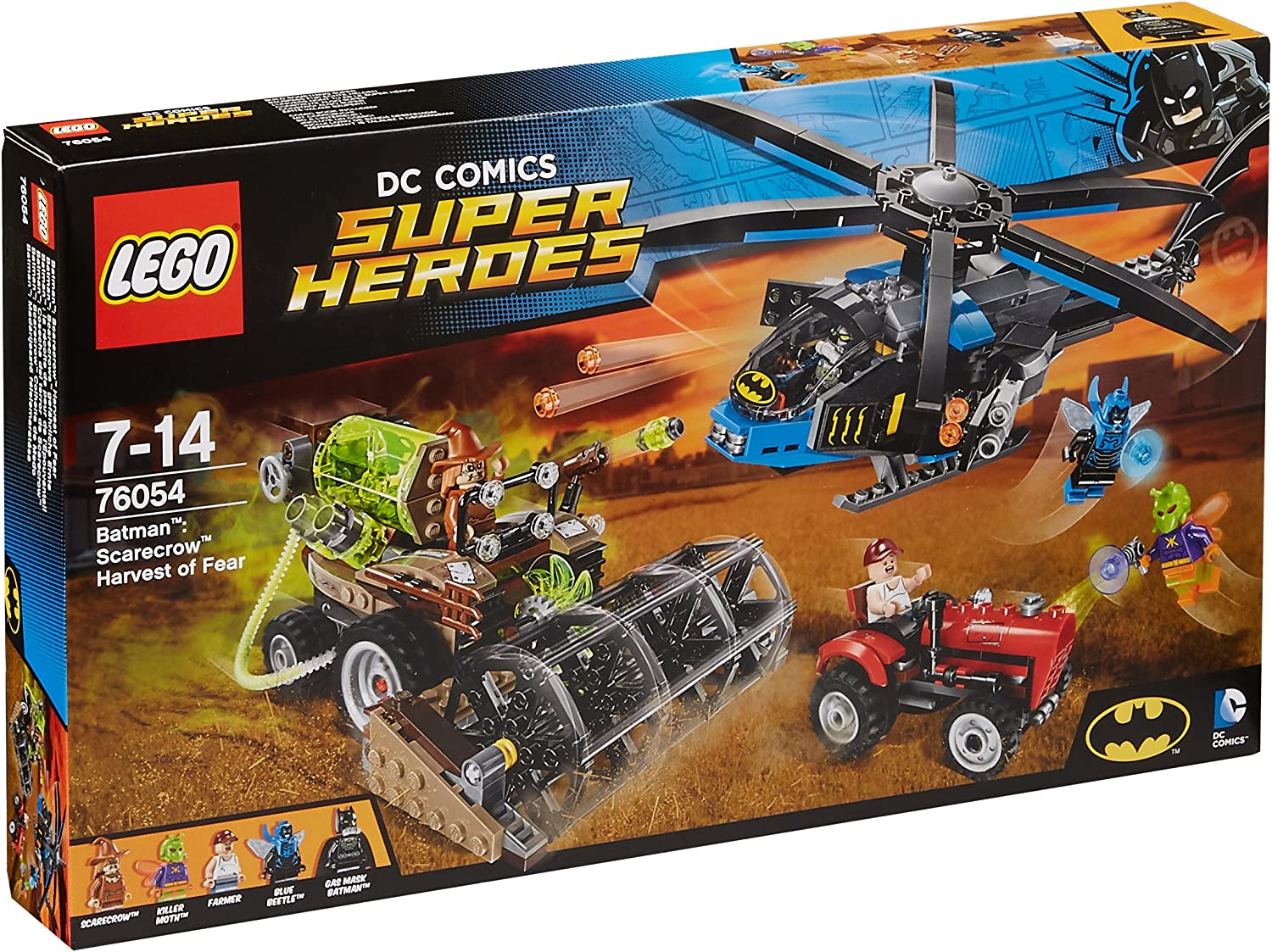LEGO 76054 DC Comics Super Heroes Batman Scarecrow Harvest of Fear Superhero Toy