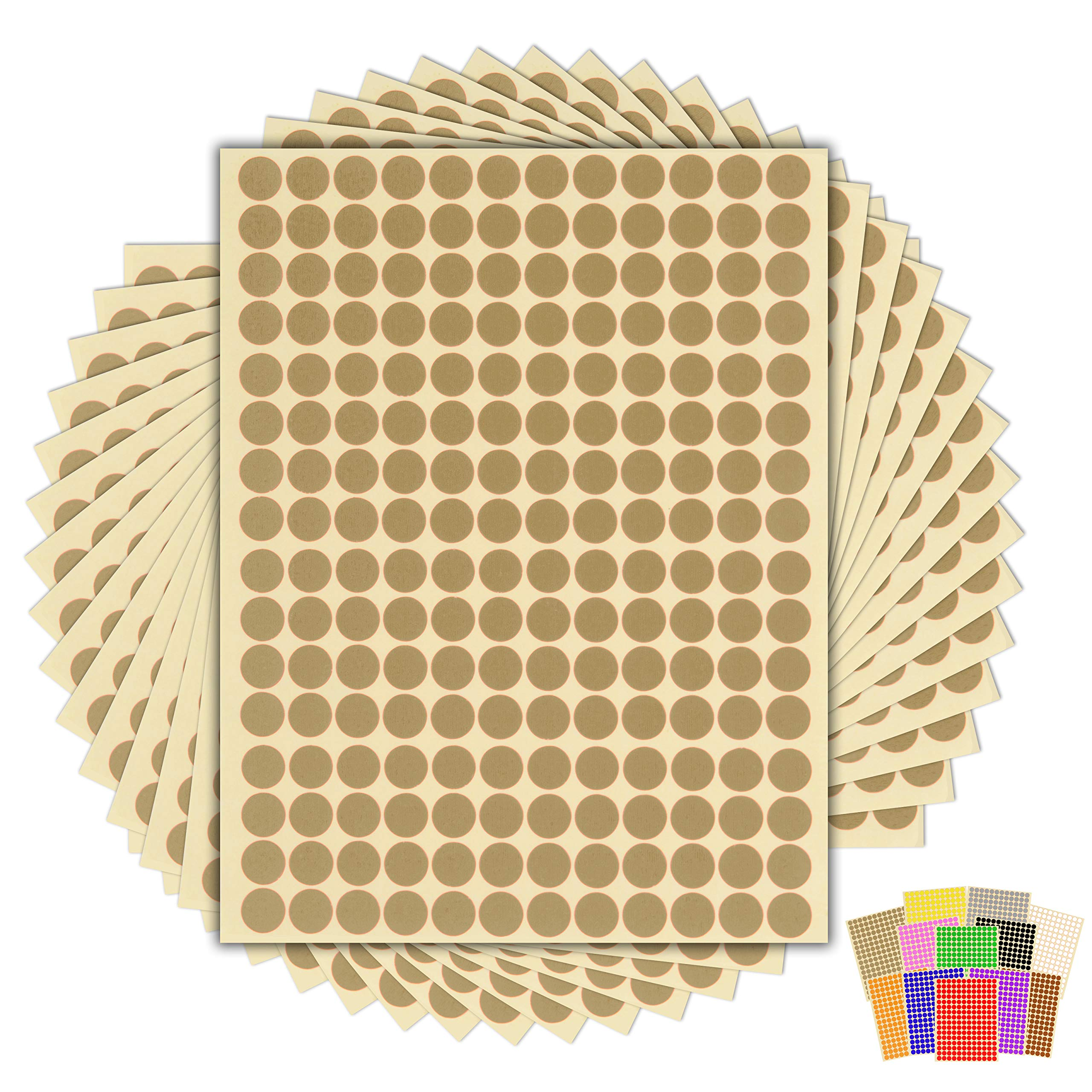 Hot Pink 15 Sheets of High Quality Sticky Dots Best-Selling Pack of 2880 x 10mm Round Coloured Easy Peel Self Adhesive Dot Stickers for Colour Coding Calendars Choice of 13 Colours