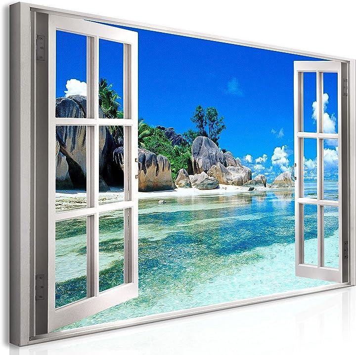 Quadro mega xxxl finestra 270x135 cm straordinario stampa su tela per un facile murando it-c-C-0383-ak-e-xxl