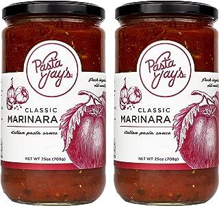 Pasta Jay's Italian Pasta Sauce, Classic Marinara, 25 oz (Pack of 2)