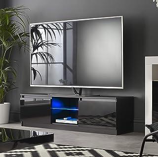 MMT RTV 1400 Black TV Stand Cabinet Unit With LED Lights for 42 49 55 65 inch 4k TV 140cm wide