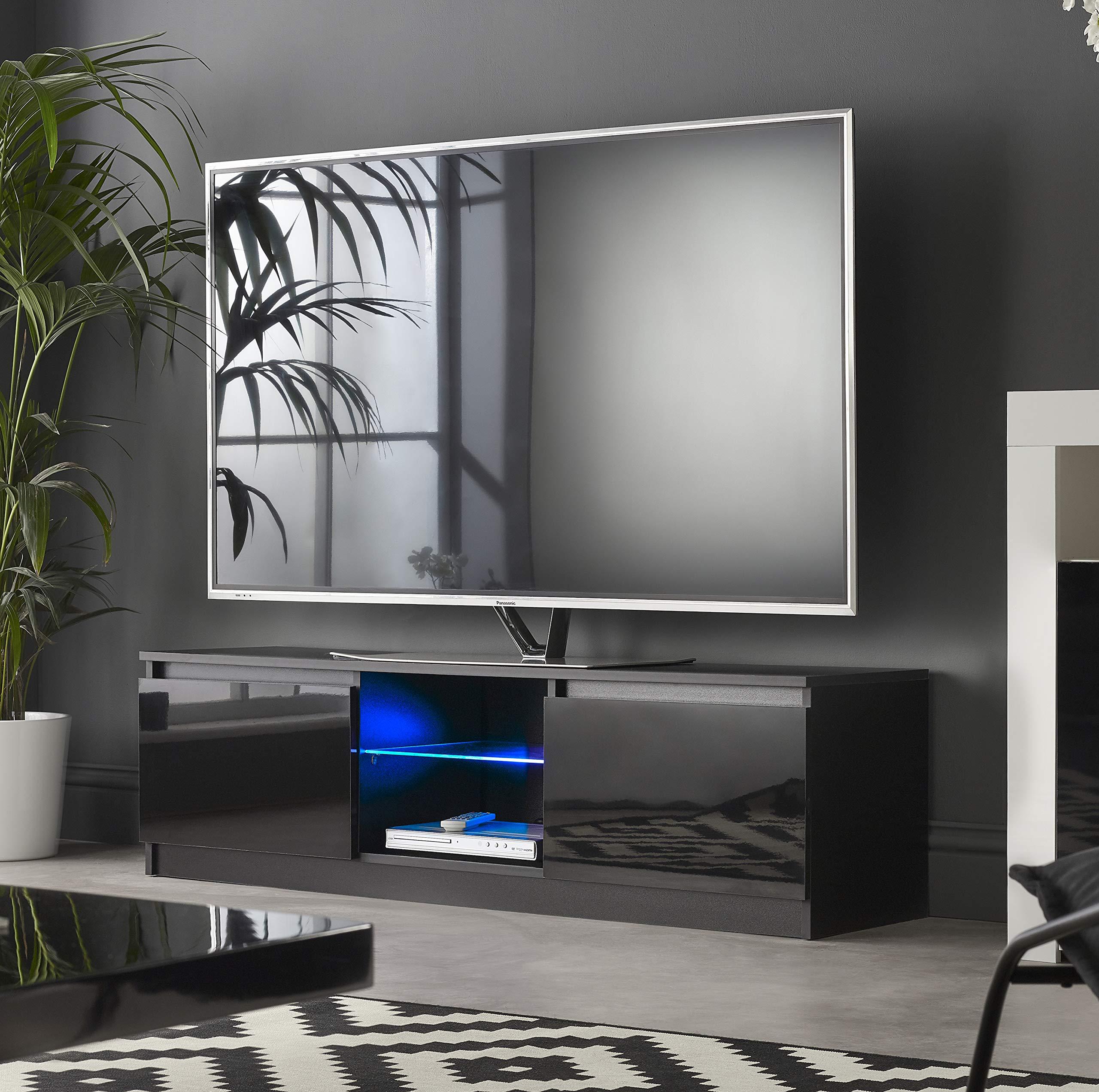 MMT RTV 1200 - Mueble de TV con Luces LED Azules para TV de 40 49 50 Pulgadas 4K de 120 cm de Ancho: Amazon.es: Electrónica