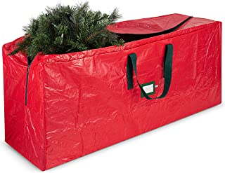 Best Large Christmas Tree Storage Bag - Fits Up to 9 ft Tall Holiday Artificial Disassembled Trees with Durable Reinforced Handles & Dual Zipper - Waterproof Material Protects from Dust, Moisture & Insect Reviews