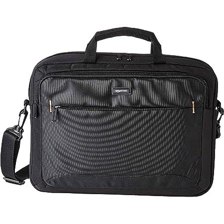 Amazon Basics - Borsa compatta per computer portatile con tasche per accessori (15,6 pollici, 40 cm), nera, confezione da 1